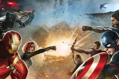 L'homme de fer et capitaine Amérique en guerre civile dans vos salles