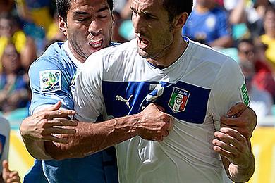 Quelle a été votre réaction lorsque Suarez a mordu Chiellini ?