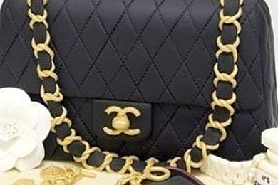 Oui, c'est un gâteau en forme de sac Chanel! Qu'en pensez vous?