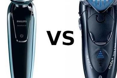 Philips et Braun sont les plus grands vendeurs de rasoirs éléctrique. Lequel choisiriez-vous?