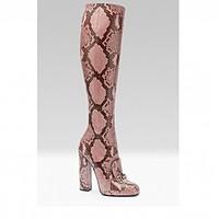 Stivali in pitone Gucci