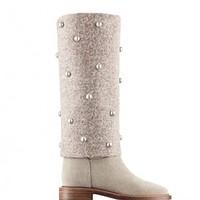 Stivali con perle Chanel