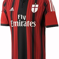 La maglia home del Milan 2014/2015