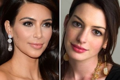 Qual è il tuo tipo ideale: Kim Kardashian o Anne Hathaway?