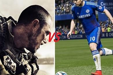 Videogame più venduti: secondo te chi vince, FIFA 15 o CALL OF DUTY?