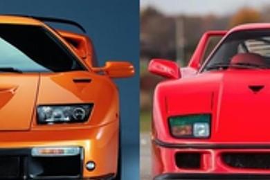 Vota la più bella: Ferrari F40 o Lamborghini Diablo?