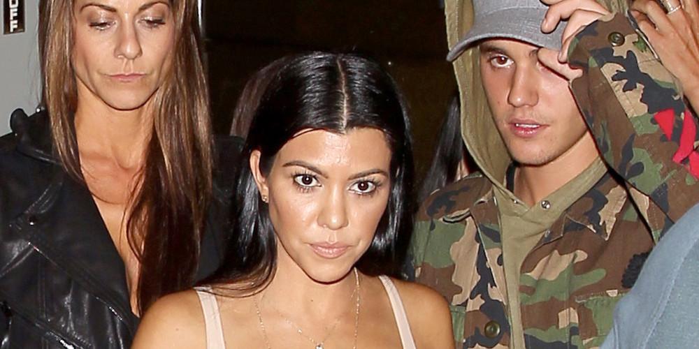 Justin Bieber beccato con Kourtney Kardashian, sorella di Kim