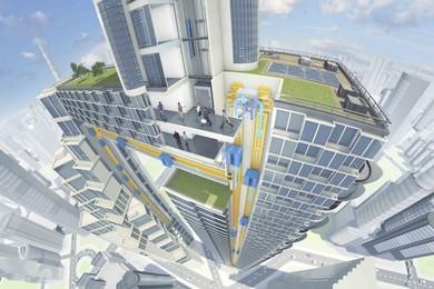 """""""Multi"""", l'ascensore senza cavi che si muove in orizzontale"""