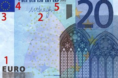 Nuove banconote da 20 euro false: il segreto per riconoscerle
