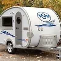 Teardrop caravan: a halfway house between tent and pod