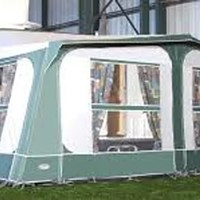 An awning lets you accommodate a whole family cheaply