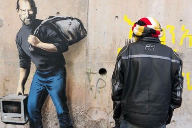Banksy's Steve Jobs mural is a breath of fresh air