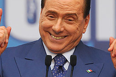 Berlusconi: always manages to be the centre of attention (but not in a good way)