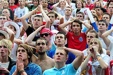 How did you react to England's World Cup elimination?