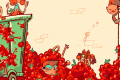 La tomatina festival Google doodle is ready. Do you like it?