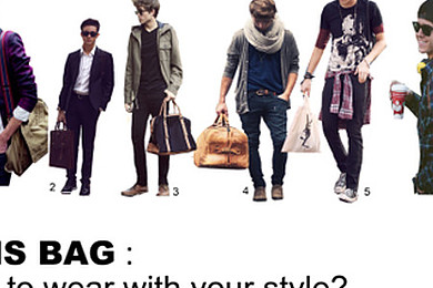 Are man bags ever acceptable?