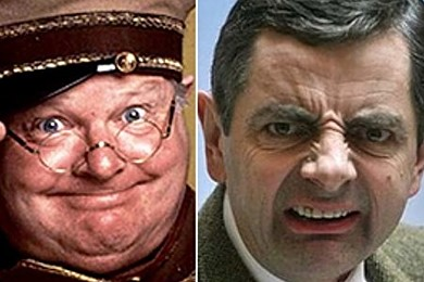 Benny Hill or Mr Bean? It's a tough call between the two comedy greats