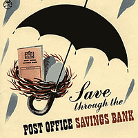 With a good old post office savings account