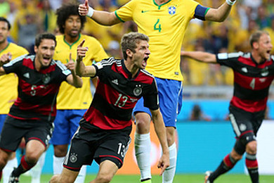 Did you feel a little bit sorry for Brazil this World Cup, getting smashed by Germany?