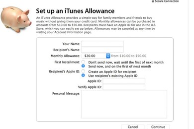 Kids' iTunes Allowances; Apple confirms it will shut down the feature