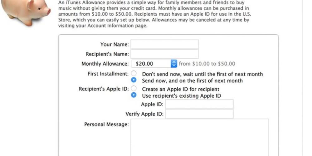 Kids' iTunes Allowances; Apple confirms it will shut down the feature