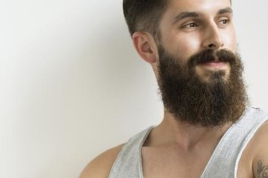 Giant bushy beards on men. Discuss